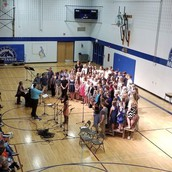 5th-8th grade choir singing together!