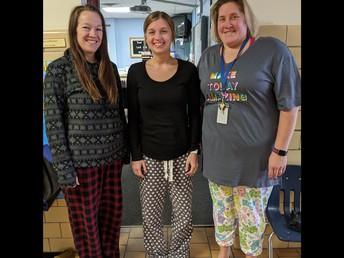 Mrs. Buechel, Miss Leitheiser, and Mrs. Longden had fun jammies this week!