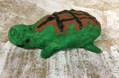 Turtles made with Paper Mache Mash - 1st Grade