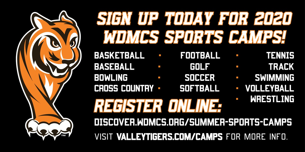 summer sports camp promos graphic