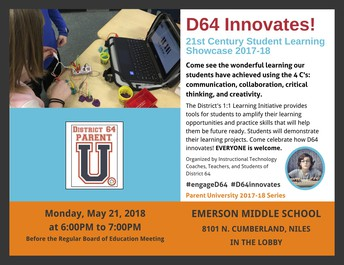 D64 Innovates University Flyer