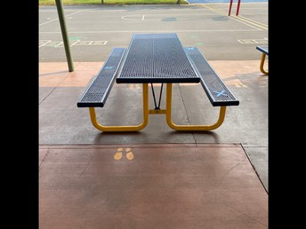 Lunch tables will have assigned seating for every child