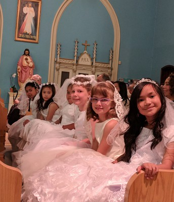 The Stunning First Communion Ladies