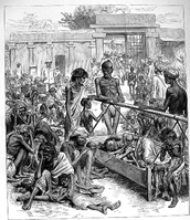 Indians being mistreated by the British