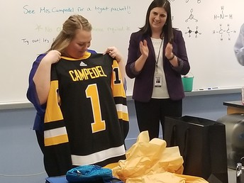 Middle School Teacher Megan Campedel Named the NHL Future Goals Most Valuable Teacher