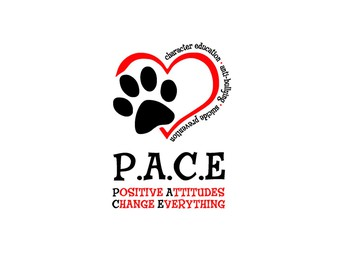 P.A.C.E. logo in a heart
