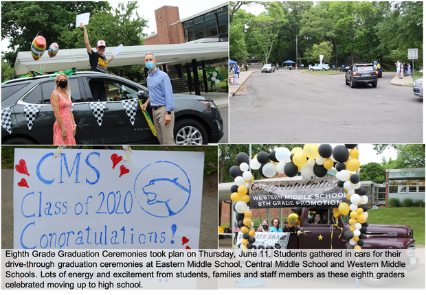 8th Grade Graduation Ceremonies at EMS, CMS and WMS took place on Thursday, June 11th