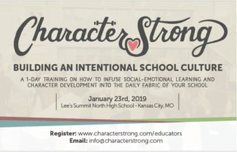 Character Strong Workshop Scheduled for January 23 at Lee's Summit North HS in KC
