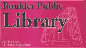 Boulder Public Library Card