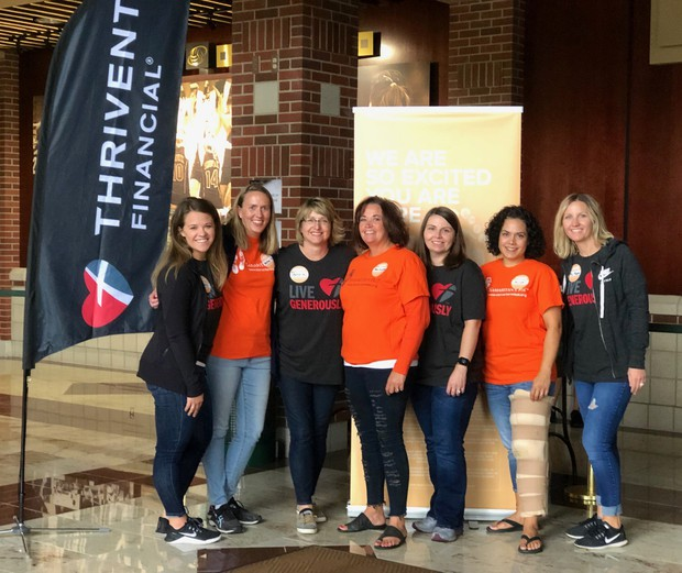 Grand Forks social workers at Samaritan's Feet event
