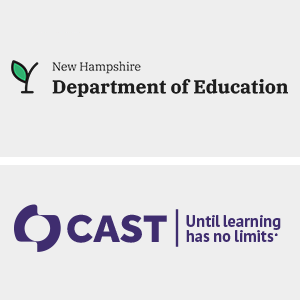 2 Logos: New Hampshire Department of Education & CAST | Until learning has no limits