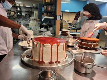 the salted caramel layer cake