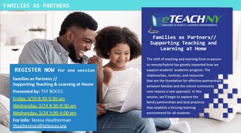 TRLE: Families as Partners Supporting Teaching & Learning at Home