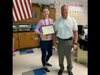 11th Grade student of the month Alexis Barr