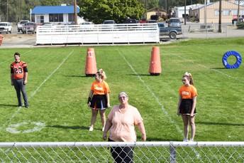 Go Cheerleaders and Mrs. Taylor