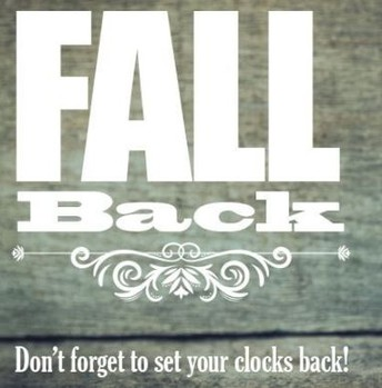 Remember to Fall Back this weekend.