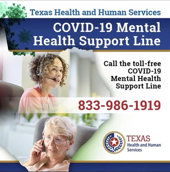 State of Texas COVID-19 Mental Health Support Line