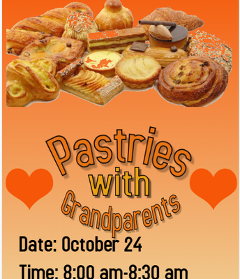 Thursday, Oct. 24 Pastries with Grandparents
