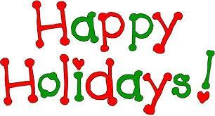 CCHS Holiday Spirit Week - December 9th-13th