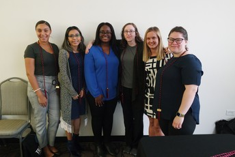 Spring 2019 Graduates (Left to Right: Ivelise Hamlett, Magali Martinez, Jazmine Marsh, Jessica Foster, Haley Crowton, Elisha Castle)