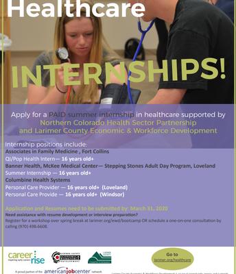 Healthcare PAID Internships!