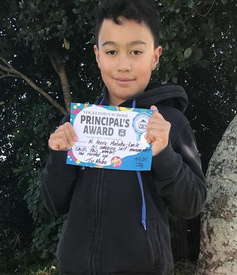 Wi Henry - Principal's award