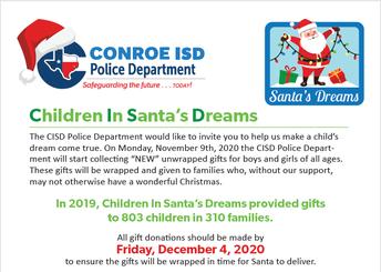 Children In Santa's Dreams Gift Drive