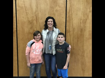 Amber and Liam with our PTA President Mrs. Johnson