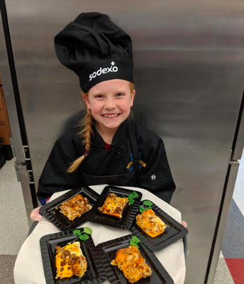 S. Cameron with her contest recipe