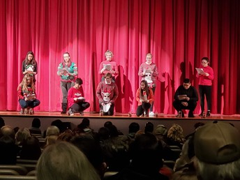 Theater Arts performed between shows!