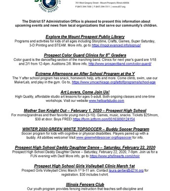 District Opportunities Page