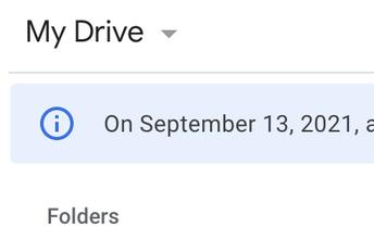 Google Drive Security Update