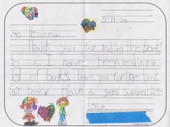 Hand-Written Thank You Note