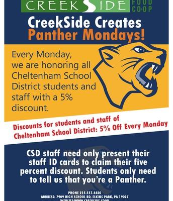 CreekSide Co-op Panther Mondays