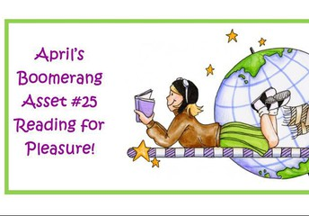 """April's CB Cares Boomerang Asset is """"Reading for Pleasure"""""""