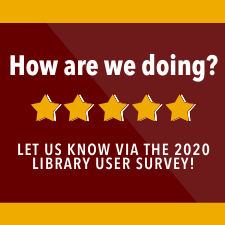 2020 Library User Survey Ad