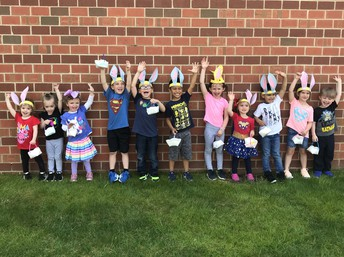 Ms. Jupin & Ms. Trotts preschool class had a blast finding their personalized eggs from the Easter Bunny during their egg hunt!