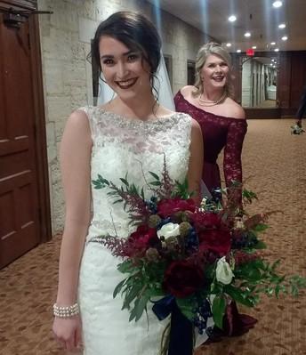 A beautiful bride & a hot momma!