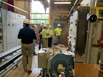 tour and discussion of boiler system work