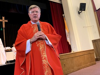 Mass with Bishop McManus