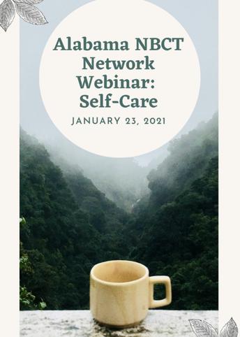 Alabama NBCT Self-Care Webinar