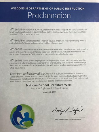 March 4-8 is National School Breakfast Week