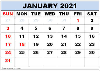 January Professional Learning Calendar