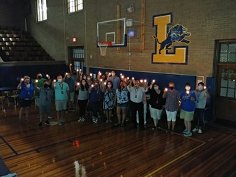 LHS West Staff Holding Lights