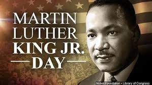 Title: Martin Luther King Jr. Day with an image of Martin Luther King, Jr.