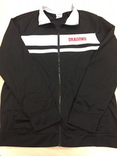 Men's Track Jacket-Black and White