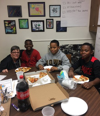 Pizza With Some Amazing Kids