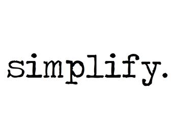 Simplification Process Win