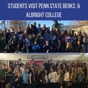 Students Visit Penn State Berks & Albright College