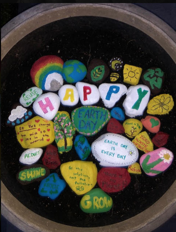 North Mianus School Earth Day Rock Garden